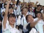 中学组织学生开跑