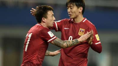 世预赛-国足12-0狂胜不丹 杨旭大四喜张稀哲建功