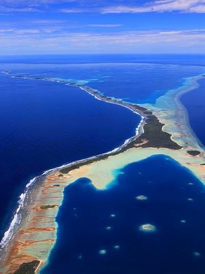 南太平洋 3D 比基尼环礁与马绍尔群岛