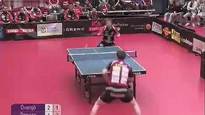 乒乓球神技!佩尔森转身360度抽球-乐视体育刘家良武术图片图片
