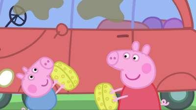 粉红猪小妹33 清洁汽车