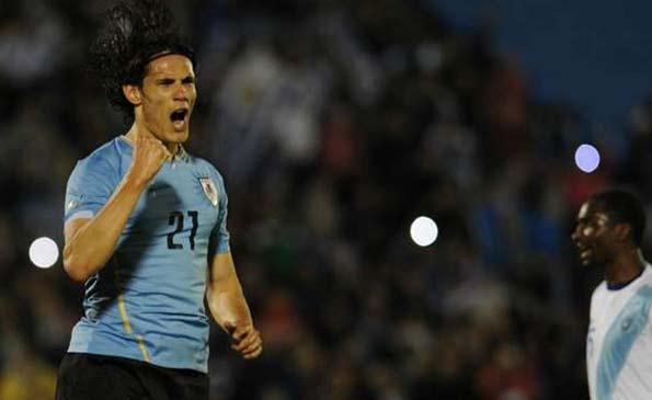 热身-卡瓦尼2球苏神缺阵 乌拉圭5-1危地马拉