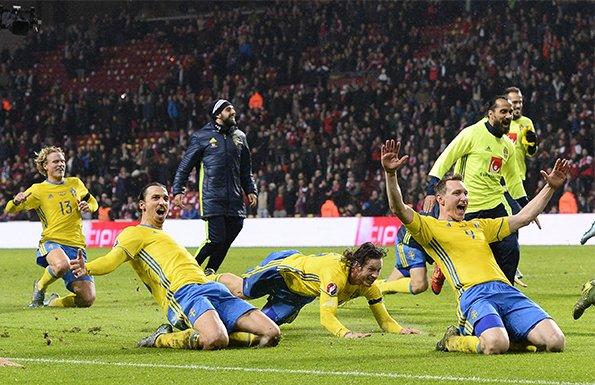 欧预赛-伊布梅开二度 瑞典总比分4-3进正赛