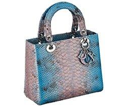 多色蟒蛇皮Lady Dior手袋