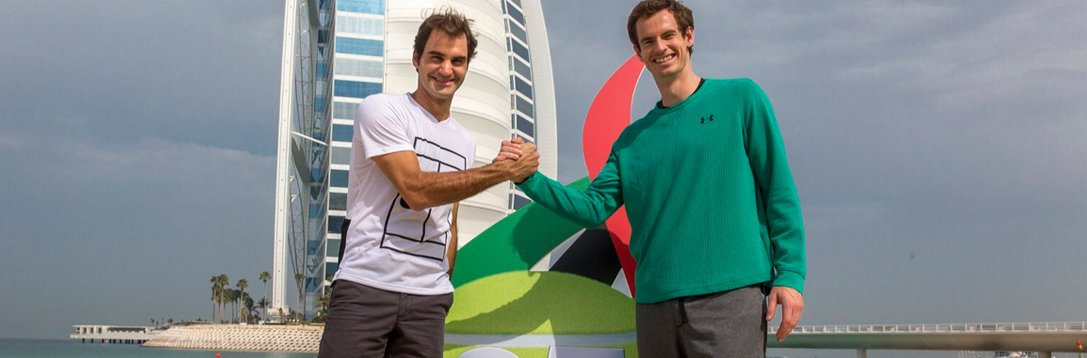 迪拜赛决赛提前上演? 费德勒穆雷大玩沙滩网球