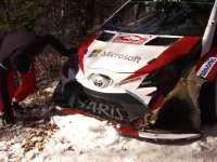 这么怼树还能开?WRC蒙特卡洛站SS5哈尼宁撞树