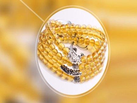 天然黄水晶手链