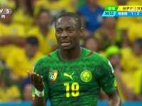 全场回放-喀麦隆1-4巴西 内马尔两球巴西头名晋级
