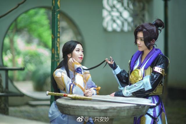 王者荣耀情侣档:紫霞仙子至尊宝cosplay