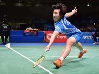 新加坡羽毛球公开赛女单1/8决赛 何冰娇vs张蓓雯