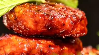 黑椒绿豆牛肉饼