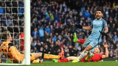 英超-米尔纳点射阿圭罗救主 曼城1-1利物浦