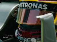 F1阿塞拜疆站一练 汉密尔顿赛车细节慢镜头