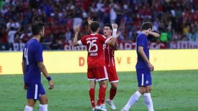 比赛战报-切尔西2-3拜仁 穆勒双响J罗表现完美