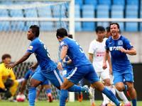 中超-富力1-0绿城 姜至鹏红牌雷纳尔蒂尼奥首球