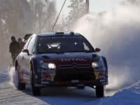 世界拉力锦标赛瑞典赛  雪地中的速度与激情