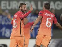 欧联-哲科双响德罗西破门 罗马客场4-2逆转取胜