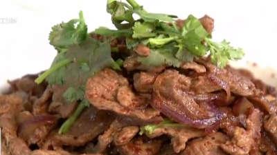 .食尚小米做老北京炒烤羊肉