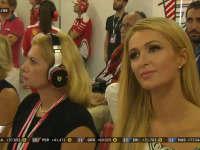 F1阿布扎比站正赛 帕丽斯希尔顿来到法拉利P房