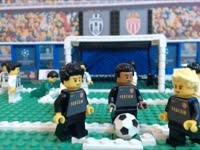 乐高神还原欧冠尤文2-1摩纳哥 连庆祝动作都一样