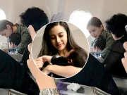 网友偶遇Baby带儿子坐飞机 称小海绵超可爱见谁都笑