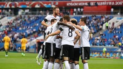 开场5分钟德国闪电进球 施廷德尔轻松推射德国1-0