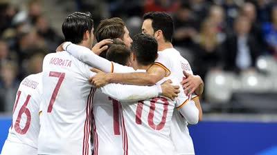 【比赛报告】法国0-2西班牙 米兰大将建功席尔瓦点射