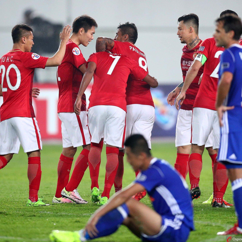 恒大7-0狂胜香港东方-巴西三叉戟二小将破门