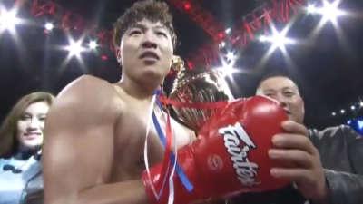 中国对法国93公斤级 环球拳王争霸赛北京站