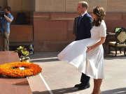 凯特王妃经历梦露时刻 裙子遇大风险走光