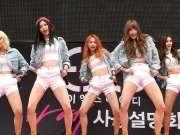 韩国女团发布会现场献舞