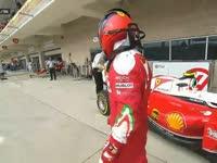 心疼老司机!F1美国站正赛:莱科宁轮胎松动退赛