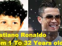 欧冠百球先生C罗 从1岁到32岁的变化