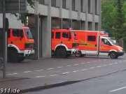 街拍德国消防车出警 很值得我们学习
