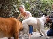 作为狗的主人,怎么能强迫狗做这样的事情呢?