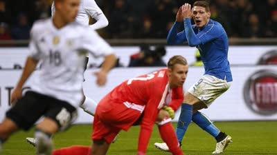 友谊赛-贝洛蒂中柱沃兰德进球无效 意大利0-0德国