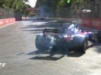 F1阿塞拜疆站排位赛 马萨甩尾小塞恩斯2号弯失误