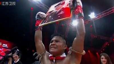 昆仑决20170625 二番战泰拳王子播求一致判定获胜