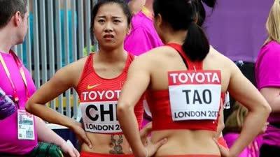女子4×100接力中国交接重大失误 取消资格无缘决赛