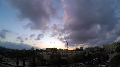 延时 圣城耶路撒冷的落日之美