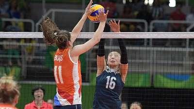 奥运中国女排开局不利 小组首战爆冷2-3负荷兰