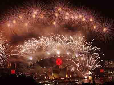 澳大利亚悉尼湾跨年焰火秀