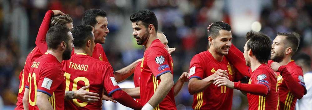 世预赛-科斯塔破门西班牙4-1