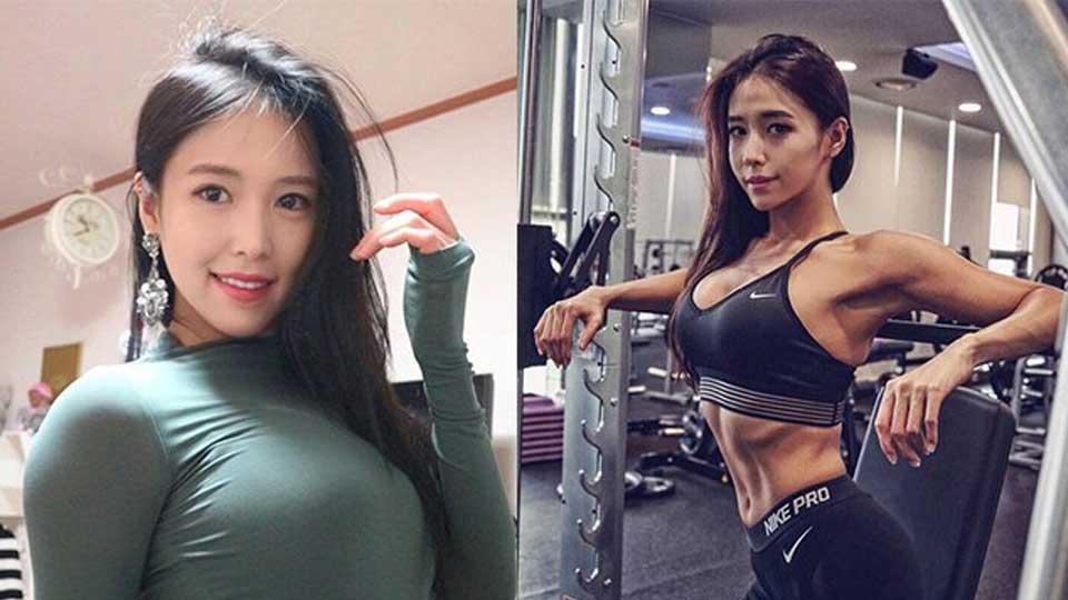 韩国健身模特成网红 傲人身姿险撑破上衣