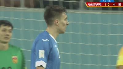 乌兹双前锋打花6人防线 谢尔盖耶夫怒射中柱