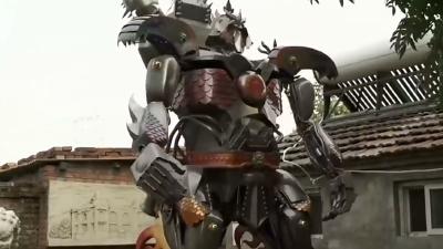 雕塑与机器人的完美结合