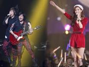 林志玲现身五月天演唱会,与成员熊抱!