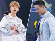 《奔跑吧》20170421:陈伟霆鹿晗抖胸尬舞帅翻天 热巴强抱男观众