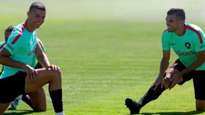 新发型迎战联合会杯! C罗国家队报道假期不停歇