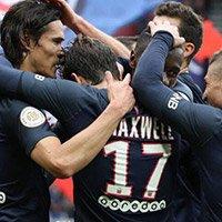 法甲-巴黎2-0蒙彼利埃联赛8连胜-迪马利亚传射 卡瓦尼双响